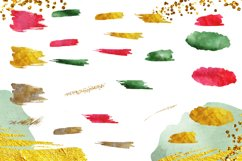 Christmas Watercolor Brushstrokes png,Abstract Christmas Product Image 3