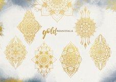 Watercolor & Gold Hand Drawn Mandala Product Image 8