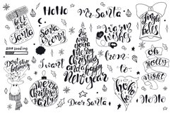 Merry Christmas quotes Lettering set Product Image 5