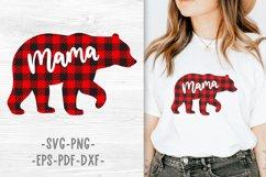 Mama bear svg Mama bear christmas Buffalo plaid christmas Product Image 1