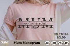 Mum Split Kids Name SVG   Mothers Day SVG Product Image 1