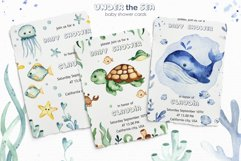 Under the sea. Watercolor clipart, frames, cards, patterns Product Image 8