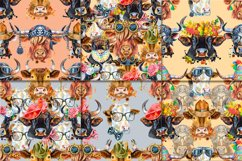 Seamless pattern of watercolor bulls Product Image 6