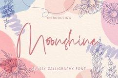 Web Font Moonshine - Classy Calligraphy Font Product Image 1