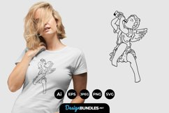 Statue Rebel for T-Shirt Design Product Image 1