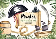 Pirates Clipart Watercolor Set Hand Painted Boy Illustration Product Image 1
