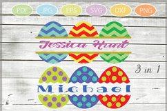 Easter Eggs monogram SVG - Easter bundle mini SVG Product Image 1