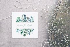 Watercolor eucalyptus frames Product Image 5
