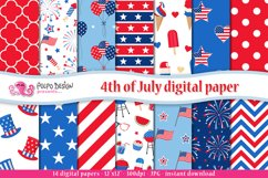 4th of July digital paper Product Image 1