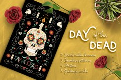 Hand Drawn Day of the Dead Set: skull party! Product Image 1