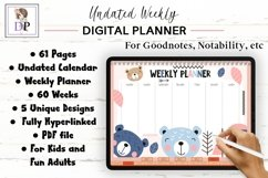 Fun Undated Weekly Digital Planner PDF CLICKABLE links v1 Product Image 1