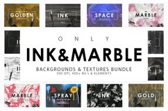Only Ink & Marble Backgrounds Bundle Product Image 1