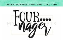 Fournager Funny Fourth Birthday for Boy or Girl SVG Product Image 1