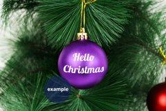 Purple Bauble Mockup, Round Christmas Ornament Mockup PSD Product Image 2