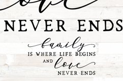 Family is where life sign svg - farmhouse home sign svg Product Image 3