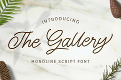 The Gallery - Monoline Script Font Product Image 1