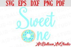 Donut Sweet One Svg Sweet One Blue Svg Donut Birthday Svg Product Image 1