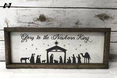 Nativity Svg, Glory to the Newborn King Svg, Christmas Svg Product Image 1