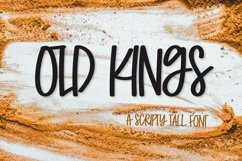 Old Kings - A Scripty Caps Font Product Image 1