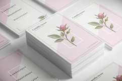 Pink Rose Business Card Template Product Image 2