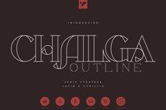 Chalga Outline - Serif Typeface Product Image 1