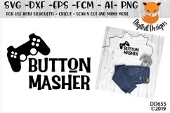 Video Gamer Button Masher SVG Product Image 1