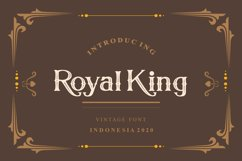 Royal King Vintage Serif Modern Font Product Image 1