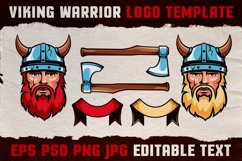 Viking Warrior Logo Colored Template Product Image 3