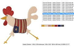 Liberty Chicken in 2 sizes - Instant Download Product Image 3