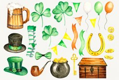 """""""St.Patrick's Day"""" watercolor set Product Image 2"""