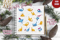 Fancy winter birds. Stickers, clipart. Product Image 3