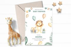 Animals and balloons watercolor Product Image 4