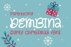 Web Font Dembina - Curey Chrisimas Font Product Image 1