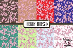 Cherry Blossom - 16 Digital Papers/Backgrounds Product Image 3