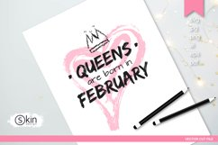 Hand draw heart with crown svg, Queen Product Image 2