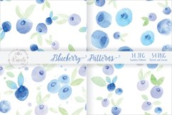 Watercolor Painting Blueberry Product Image 2