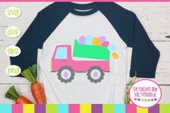 Easter, Easter Truck, Egg, SVG, DXF, PNG Product Image 1