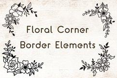 Flowers SVG Set of 12 - Floral Corner Border Elements Product Image 2