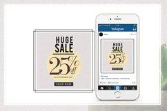 GRUNGE Social media sale banner pack Product Image 2