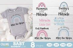 Baby Rainbow SVG Bundle  Baby Boho Rainbow SVG Product Image 1