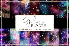 Galaxy paper BUNDLE digital paper pattern Product Image 3