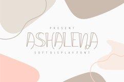 Ashalena - Soft Display Font Product Image 1