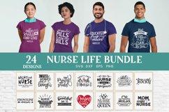24 Nurse Life svg bundle - nurse shirt svg bundle Product Image 1