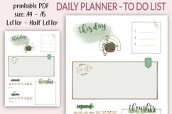 Daily Planner printable PDF - Daily spread - Undated planner Product Image 4