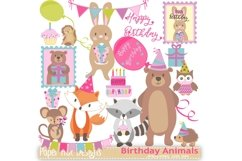 Birthday Animals Clipart Product Image 1