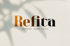 Refita. Modern Serif Font Product Image 1
