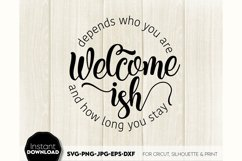 Welcome-ish SVG Porch Sign SVG Front Door Decor SVG Welcome Product Image 6