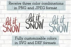Let It Snow Christmas Song Quote Saying Holiday SVG DXF PNG Product Image 2