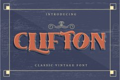 Clifton | Classic Vintage Font Product Image 1