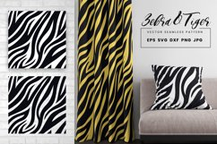 Tiger Zebra Print Seamless Pattern Repeat Animal Texture SVG Product Image 1